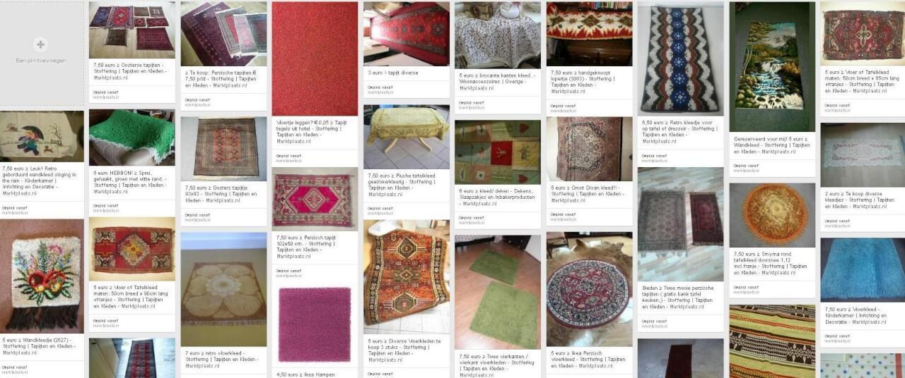 Verzameld op Pinterest: tweedehands (vloer)kleden!
