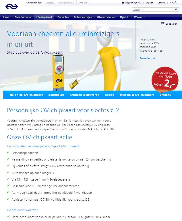 Budget tip: OV-chipkaart tijdelijk voor 2 euro
