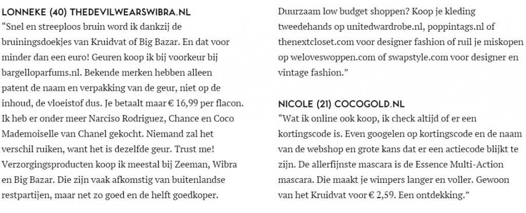 Mijn budget tips in de VIVA