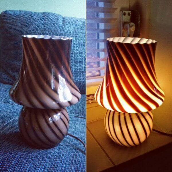 vintage tafellamp kringloop