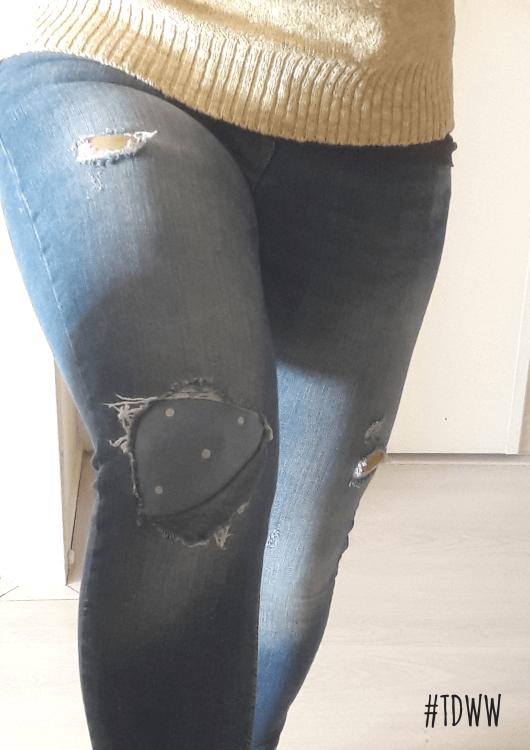 Eindresultaat gepimpte jeans