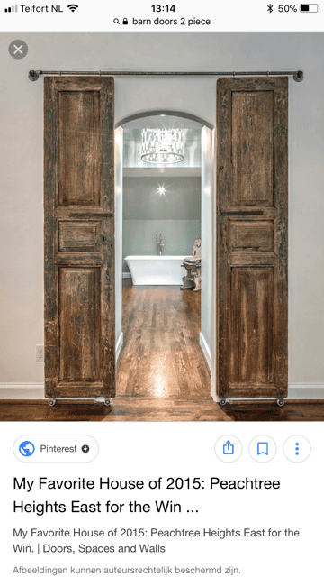 DIY sliding barn doors