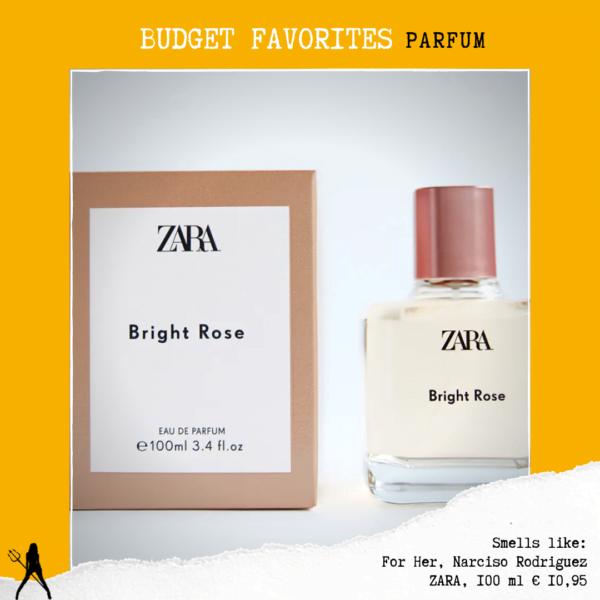 Zara Bright Rose parfum Narciso Rodriguez for her